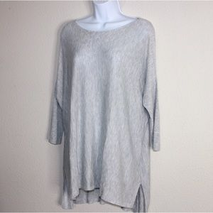 H&M Sweaters - H&M Gray Boat Neck Knit Oversized Drapey Sweater